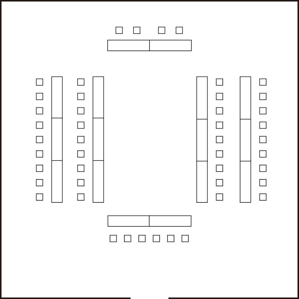 会議の会場レイアウト例